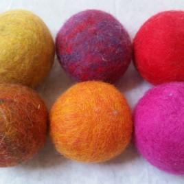 Autumn Brights Wool Dryer Balls