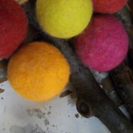 Autumn Brights Wool Dryer Balls