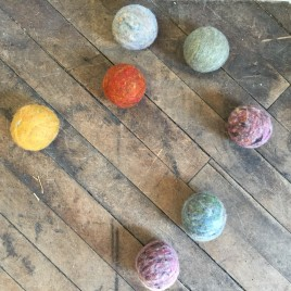 Earthy Heathers Wool Dryer Balls