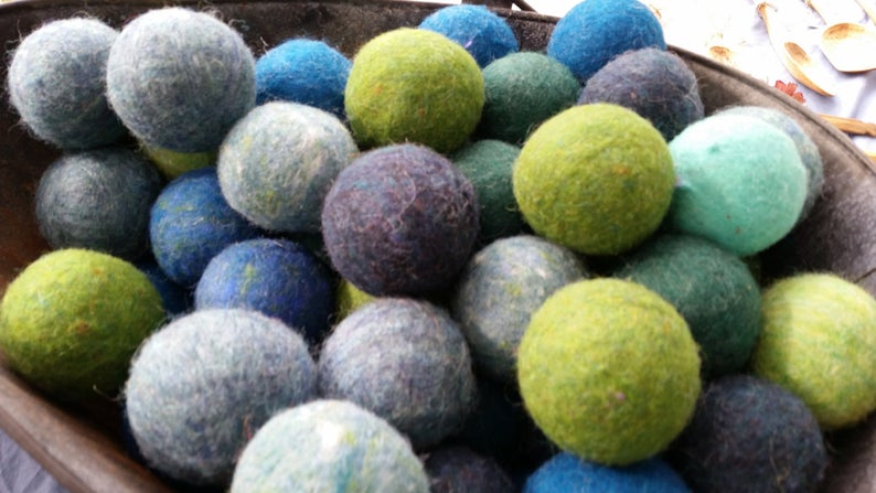 Trees And Seas Wool Dryer Balls Bog Berry Dryer Balls