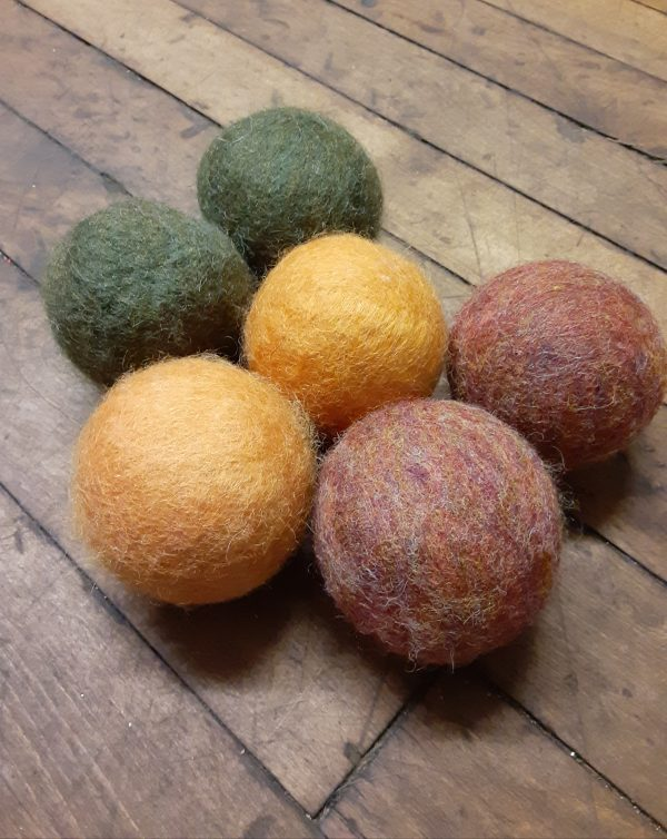 Wool Dryer Balls in Harvest